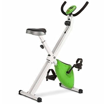 Bicicleta magnética plegable Newpower de tamaño compacto con pedales anti deslizantes, 8 niveles de resistencia