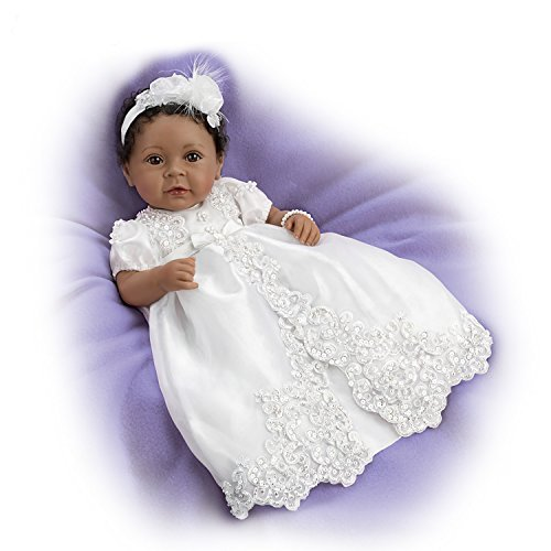 The Ashton-Drake Galleries Baby Girl Doll with Hand Rooted Hair: Weighted for Realism