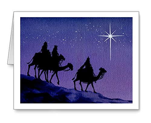 (Three Wise Men - Set of 10 Christmas Cards With Envelopes)