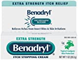 Benadryl Itch Stopping Cream, Extra Strength 1 oz (28.3 g), Health Care Stuffs
