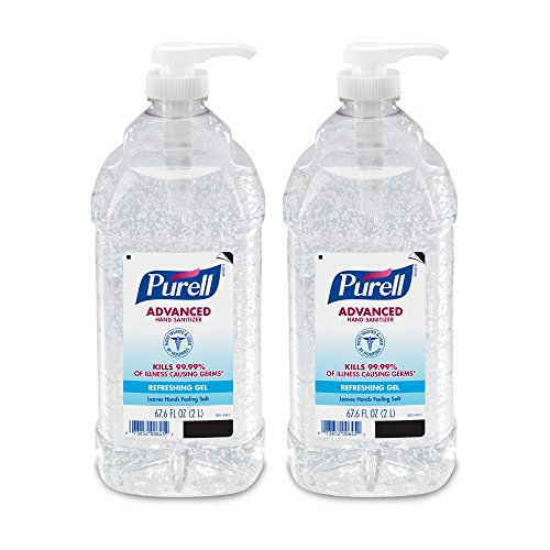 PURELL Advanced Instant Hand Sanitizer - 2L Pump Bottle, Original – 2 pack