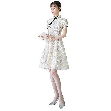 Hzjundasi Vestido Chino Cheongsam para Mujer - Traje Vintage ...