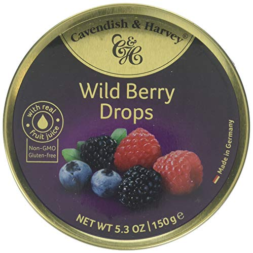Cavendish And Harvey Candy (3 Pack) Fruit Hard Candy Tin 5.3 Ounces Imported German Candy (Wild Berry Drops) (Germany Candy)