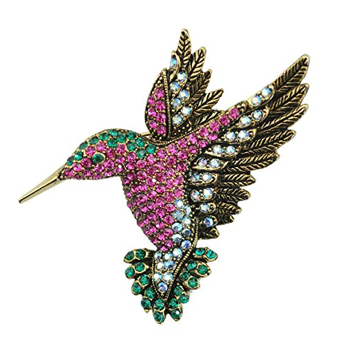 SELOVO Antique Hummingbird Austrian Crystal product image