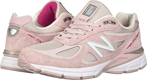 New Balance Men's 990v4 Running Shoe, Faded Rose/Komen Pink, 9 D US -  M990KMN4