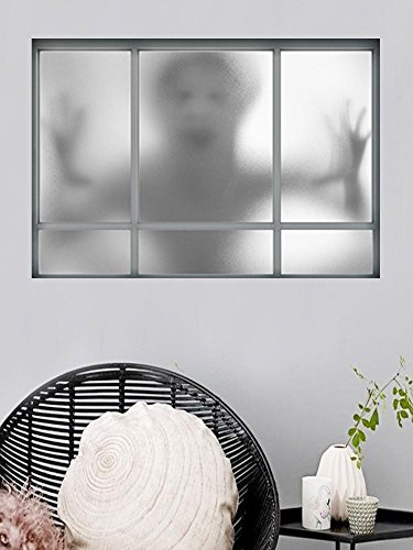 Kmmk Etiqueta de la pared de ventana falsa 3D Halloween creativo de la etiqueta de la pared del fantasma