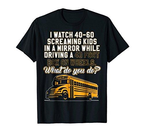 Mens School Bus Driver T-Shirt For School Bus Drivers 2XL Black