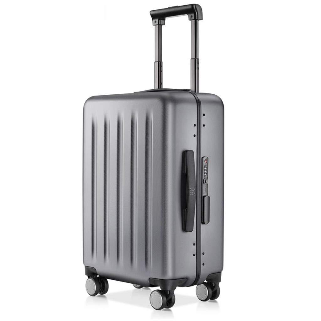 FRF トロリーケース- 人および女性アルミニウム旅行トロリー箱、旅行20インチ24インチ搭乗TSAパスワード箱 (色 : Gray, サイズ さいず : 20in) B07QKQRMH1 Gray 20in