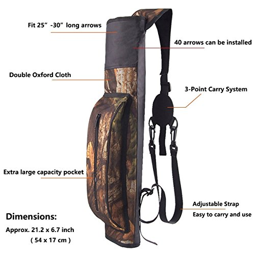 AMYIPO-Camouflage-Light-Weight-Waterproof-Quiver-Hunting-Training-Camo-Archery-Arrow-Quiver-Holder-Bow-Belt-Shoulder-Bag-Pouch-for-Hunting-Shooting-Recurve-Bows