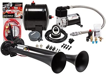 Amazon kleinn air horns hk2 1 complete dual truck air horn amazon kleinn air horns hk2 1 complete dual truck air horn package black automotive publicscrutiny Choice Image