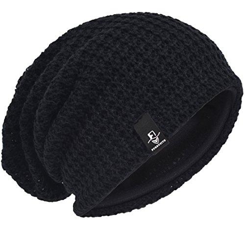 Invierno Negro Punto Gorro Knit Slouch Hombre Beanie de Hat Verano znESqx4Yw