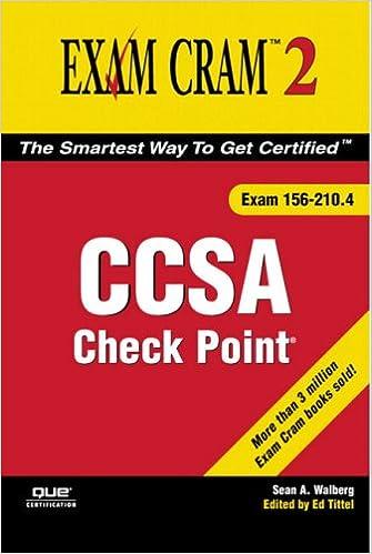 Amazon com: Check Point CCSA Exam Cram 2 (Exam 156-210 4