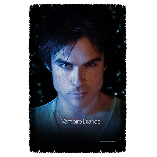 Price comparison product image Damon Close-Up -- The Vampire Diaries -- Woven Throw Blanket Tapestry