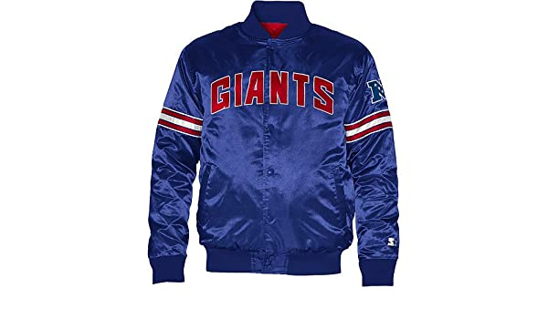3454b33fa Amazon.com   STARTER York Giants Youth Satin Jacket X-Large 18-20   Sports  Fan Outerwear Jackets   Sports   Outdoors