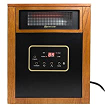 1500W Quartz Infrared Space Heater Wheels Remote control Lifetime Filter- Sold By Online Discounts Gifts!