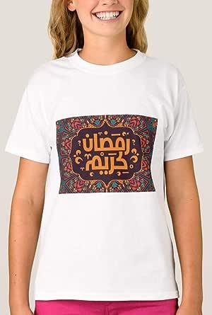 تي شيرت مع تصميم للبنات، رمضان مقاس 13