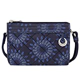 Travelon Women's Anti-theft Boho Clutch Crossbody Cross Body Bag, Geo Sunflower