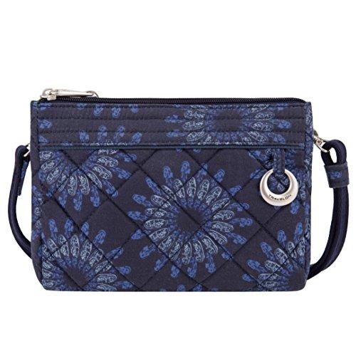 Travelon Wristlet (Travelon Women's Anti-theft Boho Clutch Crossbody Cross Body Bag, Geo Sunflower)