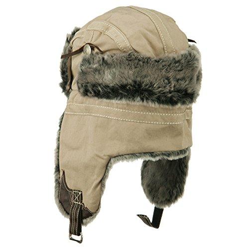 Cotton Twill Trooper Hat - Khaki OSFM