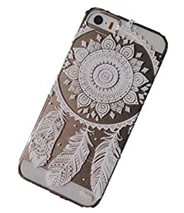 iPhone 6 Plus Case, Wendy's StoresTM Clear Plastic Case Cover for Apple Iphone 6 Plus(5.5 Inch) (Henna Ojibwe Dream Catcher Ethnic Tribal) hjbrhga1544 by ruishername