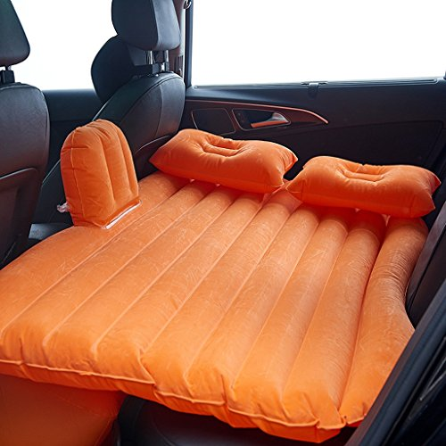 QIHANGCHEPIN Comfortable Car Air Conditioning Bed Travel Inflatable Mattress, Outdoor Camping Portable Car Air Mattress, Applicable SUV, Truck, Car, 52.7533.27inch (Color : Orange)