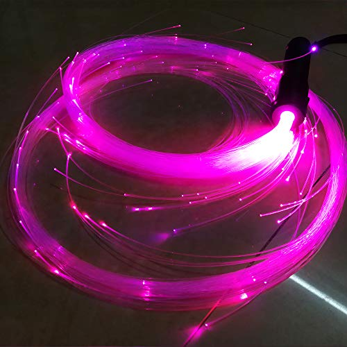 Colorful LED Fiber Optic Whip Space Whip Light 6 Ft 360° Swivel Funny Carnival Rave Toy EDM Pixel Flow Lace Dance Festival Night Dancing