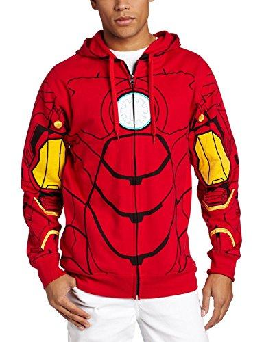 Marvel Men's My Iron Suit Hooded Costume Fleece, Red, XX-Large (Iron Man Halloween Suit)