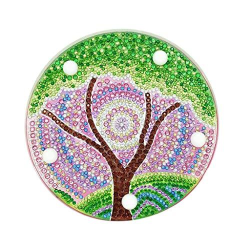 Orcbee  _DIY Diamond Painting Light Embroidery Full Dedicated Diamond LED Light Gift for Birthday (1# Green)