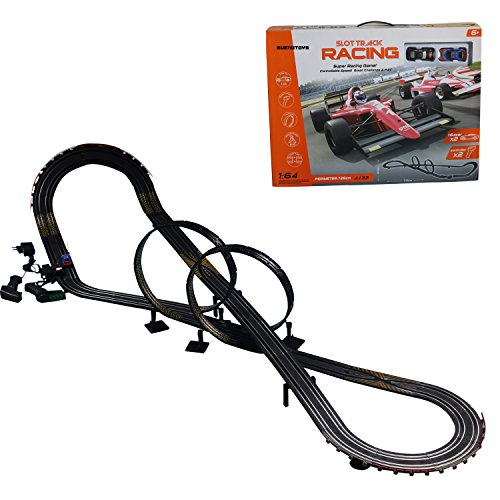 Buenotoys 1:64 Remote Control Track Slot Car Toy(Circumference 354.74 inch)