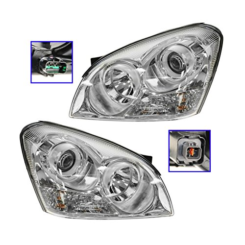 Headlights Headlamps Left & Right Pair Set for 07-08 Kia Optima