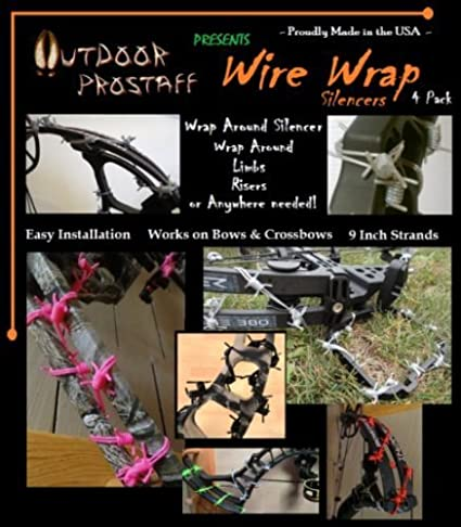 OPS Wire Wrap Silencers Orange 6 Pack