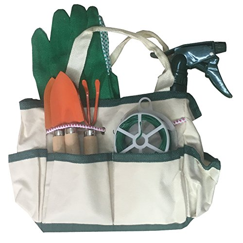 Kids Helper Garden Tools Set for Children Bag Set (8 Pieces Set) by Kids Helper