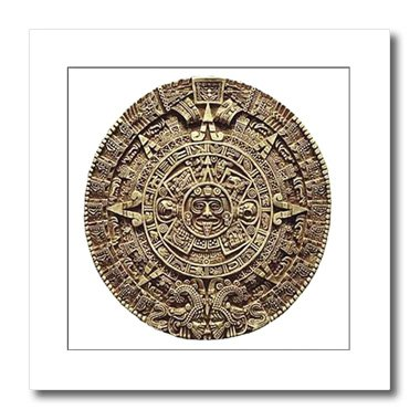 3dRose ht_60664_3 Mayan Calendar Iron on Heat Transfer for White Material, 10 by 10
