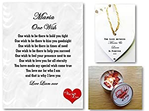 personalised romantic poem gift set one wish love letter husband wife boyfriend girlfriend perfect for framing personalised details required