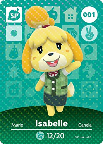 001 Greeting Card - Amiibo Card Animal Crossing Happy Home Design Card ISABELLE 001/100 SP