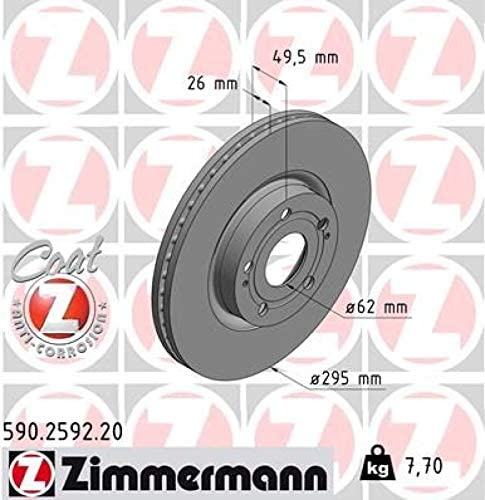 ZIMMERMANN Bel/äge vorne Bremsenkit Komplettset 500ml Bremsenreiniger ZIMMERMANN Bremsscheiben /Ø295mm