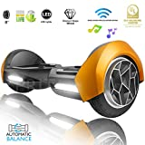 XPRIT 8 inch WheelsHoverboard Electric Auto Self Balancing Scooter with Wireless Music Speakers and LED Lights UL2272 Certified Electric Scooter for Kids and Adult (Gold)