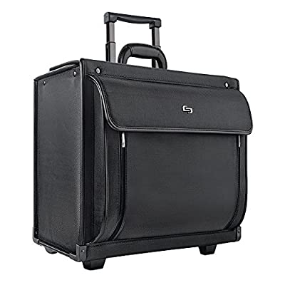 """Solo Classic 15.6"""" Laptop Rolling Catalog Case with dual combination locks, Black, PV78-4 from Solo"""