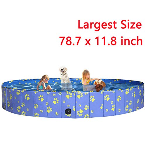 Pro Goleem Foldable Dog Pool Collapsible Bath Tub for Dogs and Kids