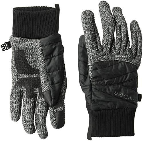 Spyder Women's Bandita Stryke Hybrid Glove, Black/Black/Black, X-Small