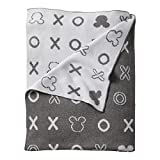 Baby : Ethan Allen | Disney Mickey Mouse Hugs and Kisses Knit Stroller Blanket, Mouse Grey