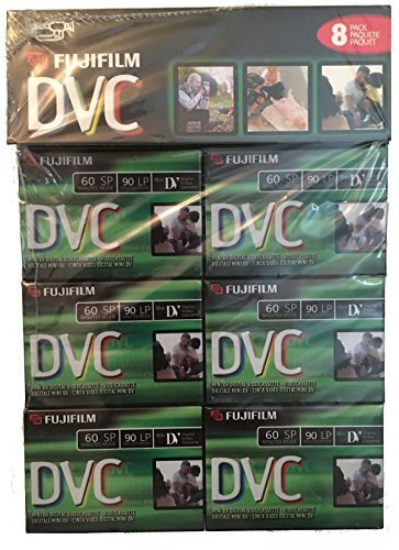 Fuji 8 Pack 60-Minute Mini DV Digital Videocassette DVM60 Fujifilm by Fujifilm