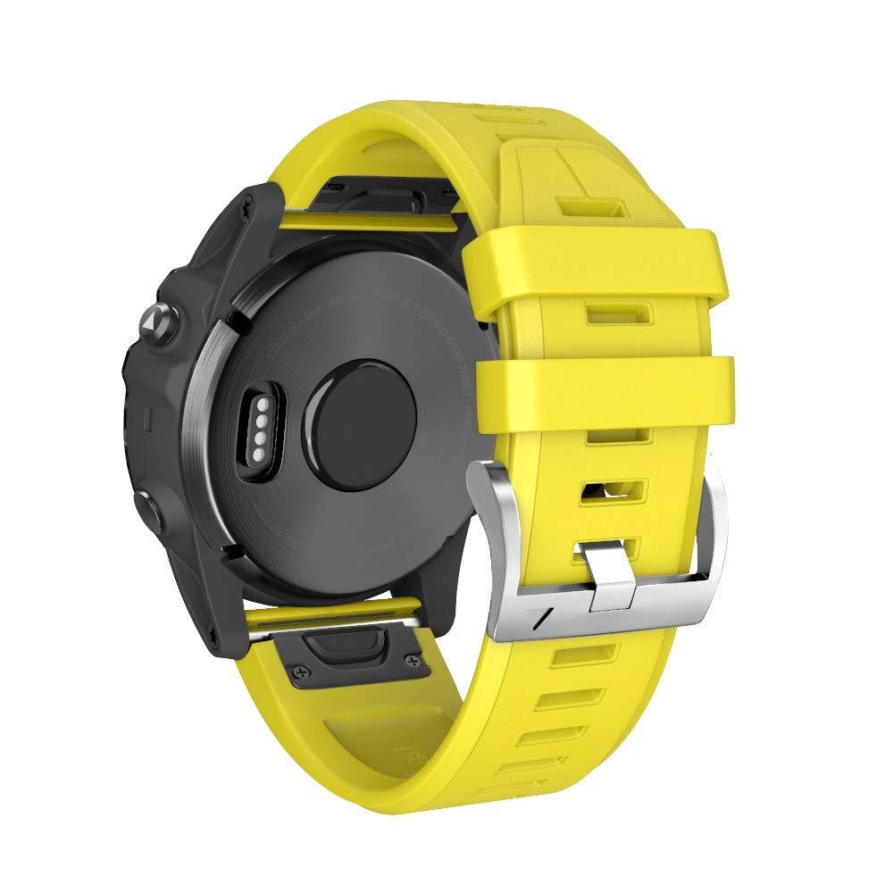 JiaMeng Correa para Garmin Fenix 5 más, Moda Sports Pulsera de Reloj Banda de Reemplazo fácil de Ajuste de Wirstband del Lanzamiento rápido del ...