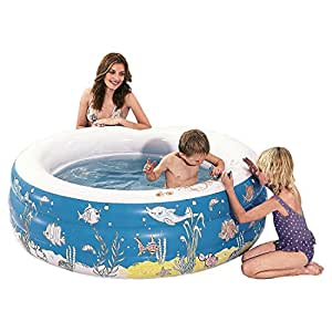 """Intex Kids Outdoor Inflatable Water Doodle Pool - 60"""" X 20"""" with Washable Crayons"""