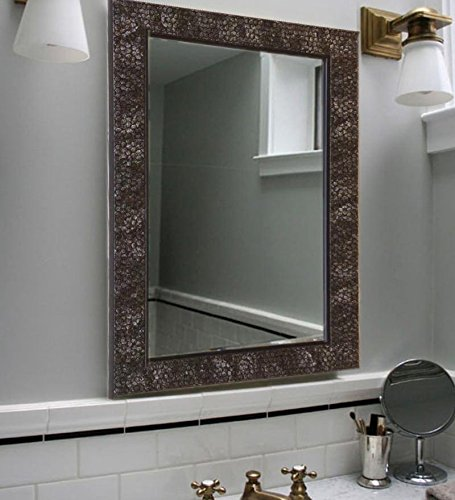 Buy Zahab Fibre Frame Honeycomb Design Bathroom Mirror Size Decorative Bathroom Wall Mirrors Bedroom Mirrors 15x1x21 Inch Black Online At Low Prices In India Amazon In