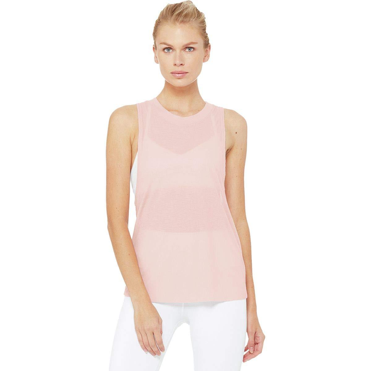 Alo Yoga - Camiseta sin Mangas para Mujer, Medium, Malva ...