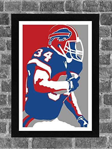 Buffalo Bills Thurman Thomas Portrait Sports Print Art 11x17 - Framed Thurman Thomas Buffalo