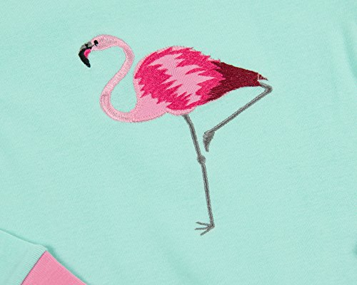 Leveret Matching Doll & Girl Flamingo 2 Piece Pajama Set 100% Cotton Size 10 Years by Leveret (Image #1)