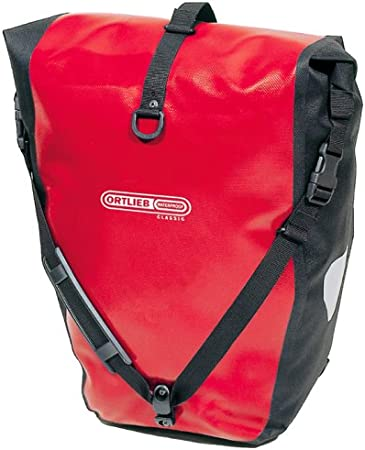 Ortlieb Back-Roller Classic - Bolsa para Parte Trasera de Bicicleta Rojo Rojo/Negro Talla:41x23/17x17 cm: Amazon.es: Deportes y aire libre