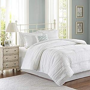 Madison Park Celeste 5 Piece Comforter Set White King